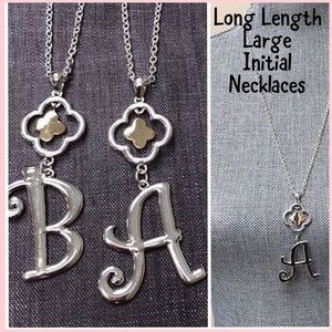 Longer Length Chain w/ Large Scrolled Initial, NWT